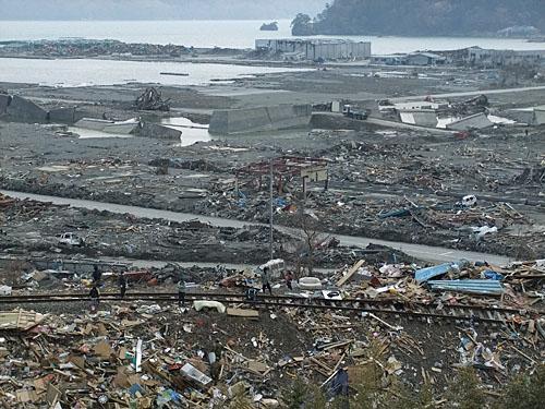大槌町地震3週間後