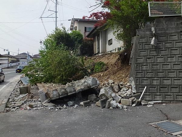 擁壁の崩落